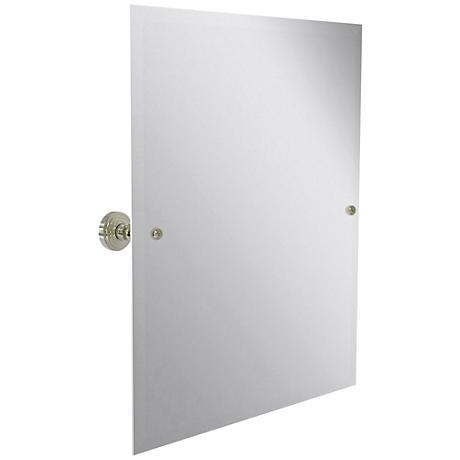 "Waverly Place Nickel 21 3/4""x 25"" Vanity Mirror"