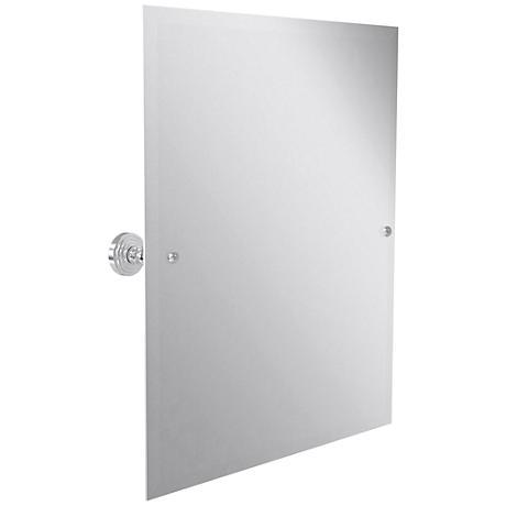 "Waverly Place Satin Chrome 21 3/4"" x 25"" Vanity Mirror"
