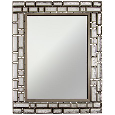 "Harlowe New Bronze 27 1/2""x35 1/2"" Wall Mirror"