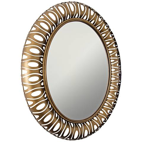 "Masquerade Hammered Ore 32 1/2""x38 1/2"" Wall Mirror"