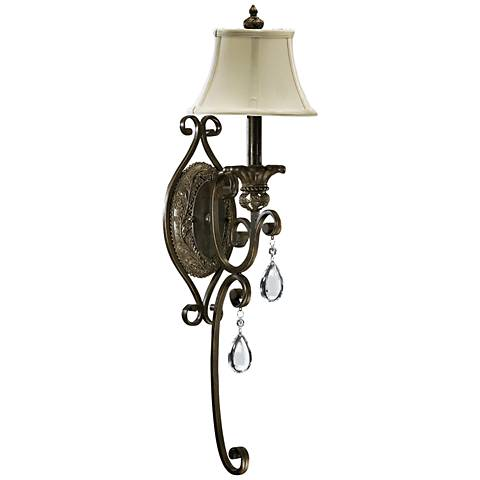 "Quorum Fulton 28"" High Classic Bronze 1-Light Wall Sconce"