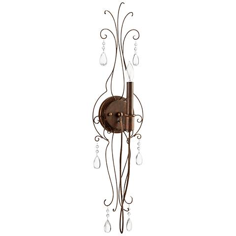 "Quorum Venice 30"" High Copper Wire 1-Light Wall Sconce"