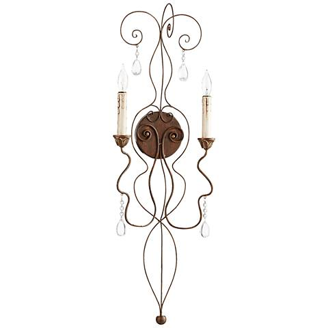 "Quorum Venice 32 1/2""H Copper Wire 2-Light Wall Sconce"