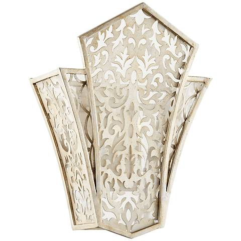 "Quorum Bastille 17 1/4""H Aged Silver 2-Light Wall Sconce"