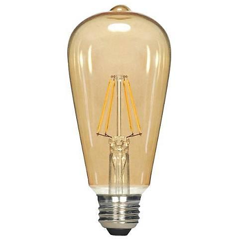 Satco ST19 Amber 4.5 Watt A19 LED Filament Bulb