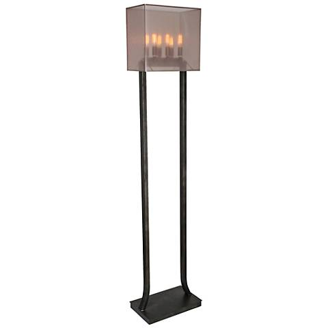 Van Teal Mr. CEO Ink Well Black Metal Floor Lamp