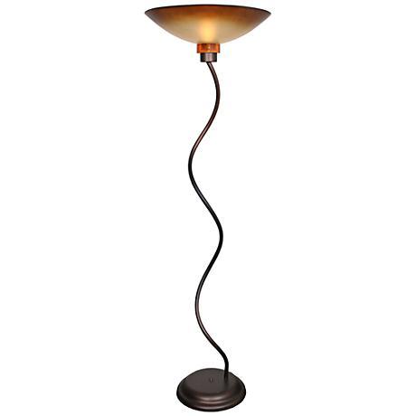 Van Teal Twist & Shout Torchiere Floor Lamp