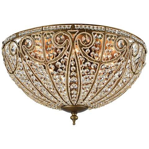 "Elizabethan 22"" Wide Dark Bronze 8-Light Ceiling Light"