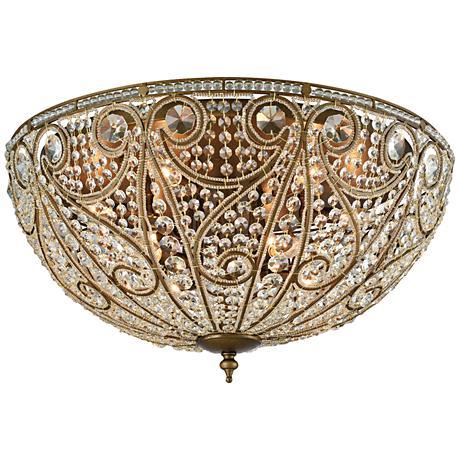 "Elizabethan 28"" Wide Dark Bronze 10-Light Ceiling Light"