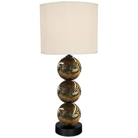 Triple Dazzle Harbor Mist Metal Table Lamp