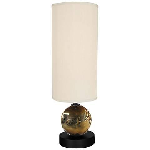 Single Dazzle Harbor Mist Metal Table Lamp