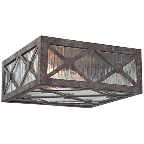"Radley 12"" Wide Malted Rust 2-Light Ceiling Light"