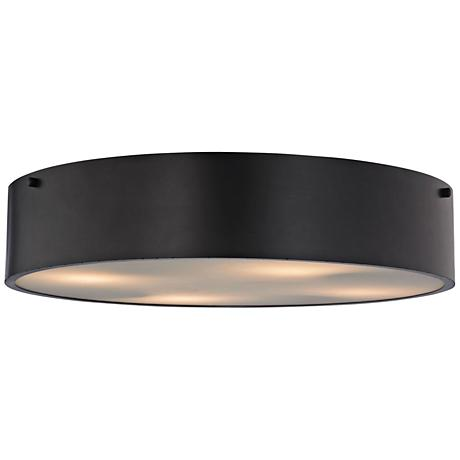 """Clayton 21"""" Wide Oil Rubbed Bronze 4-Light Ceiling Light"""