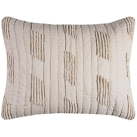 Colton Vertical Textured Stripe Quilted King Pillow Sham