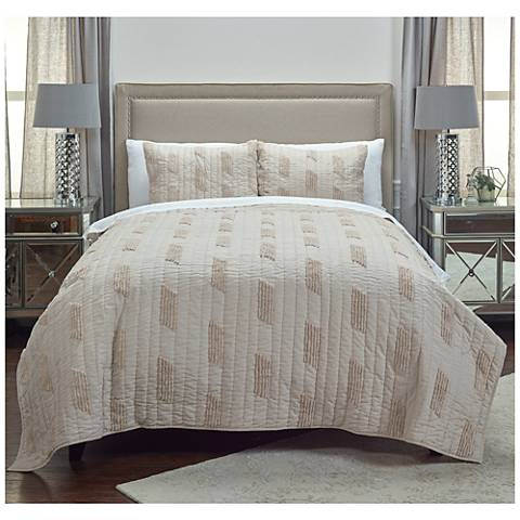 Colton Vertical Textured Stripe Quilt