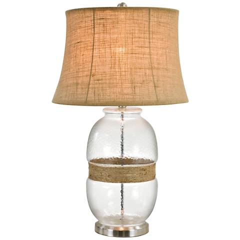Tannehill Jute Twine Clear Glass Table Lamp