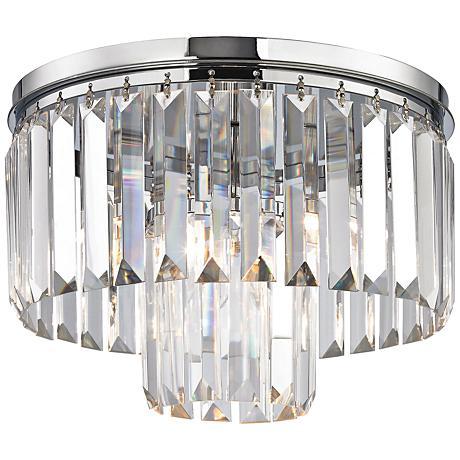 """Palacial 12"""" Wide Polished Chrome Ceiling Light"""