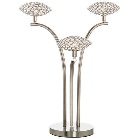 Treo Sand Chrome and Crystal 3-Light Table Lamp