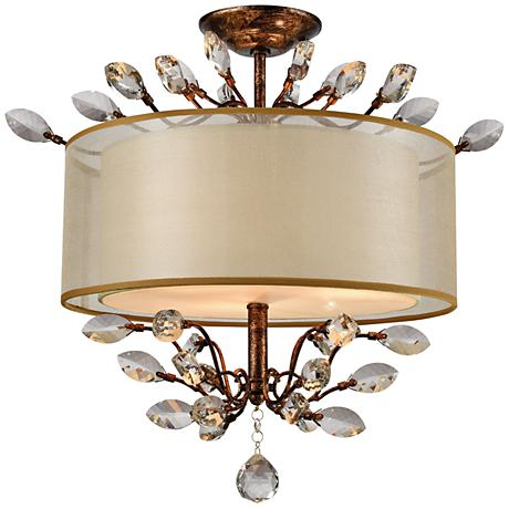 "Asbury 19"" Wide Spanish Bronze 3-Light Ceiling Light"