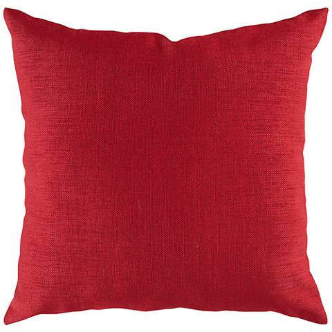 "Surya Red Storm 18"" Square Decorative Pillow"