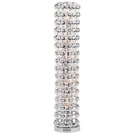 Cavaria Chrome and Crystal Floor Lamp