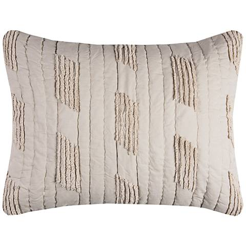 Colton Vertical Textured Stripe Quilted Standard Pillow Sham