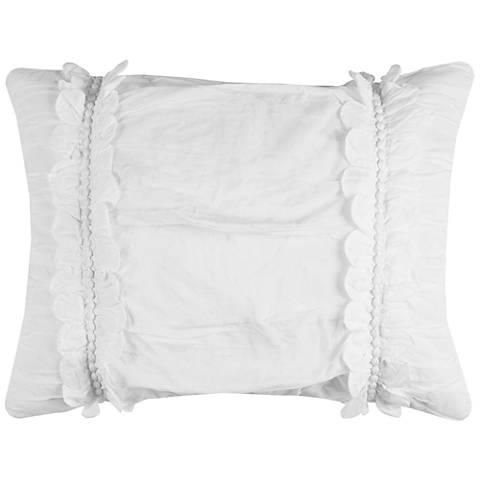 Clementine White Textured King Pillow Sham