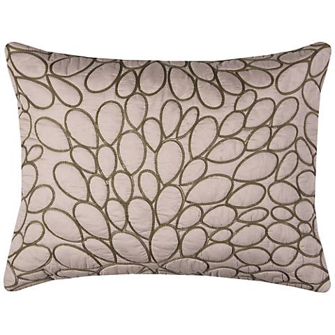 Petal Blush Natural Cotton Quilted King Pillow Sham