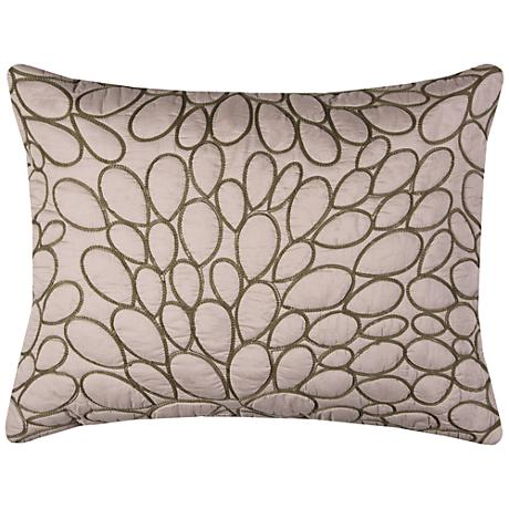 Petal Blush Natural Cotton Quilted Standard Pillow Sham