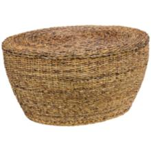 Kirana Rattan and Abaca Oval Coffee Table
