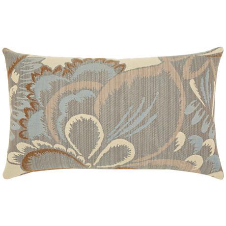 """Floral Mist 20""""x12"""" Lumbar Indoor-Outdoor Pillow"""