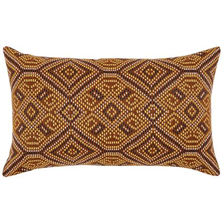 "Nutmeg Tile 20""x12"" Lumbar Indoor-Outdoor Pillow"