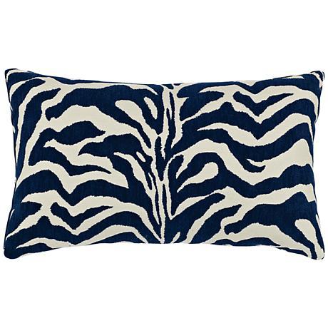 """Zebra Marine 20""""x12"""" Lumbar Indoor-Outdoor Pillow"""