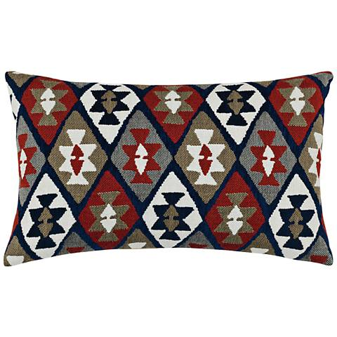 "Canyon Diamond Lodge 20""x12"" Lumbar Indoor-Outdoor Pillow"