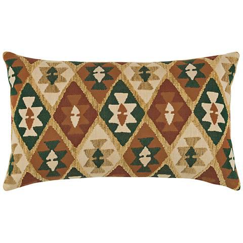 """Canyon Diamond Forest 20""""x12"""" Lumbar Indoor-Outdoor Pillow"""