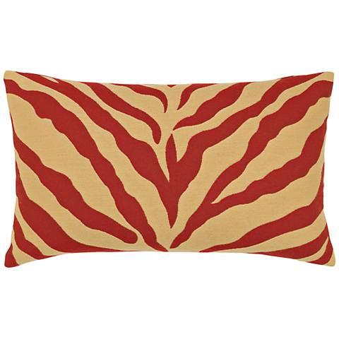 """Zebra Royale 20""""x12"""" Lumbar Indoor-Outdoor Pillow"""