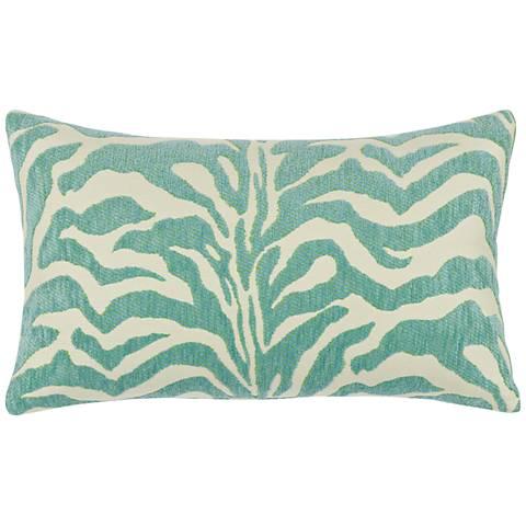 """Elaine Smith Zebra Mist 20""""x12"""" Lumbar Indoor-Outdoor Pillow"""