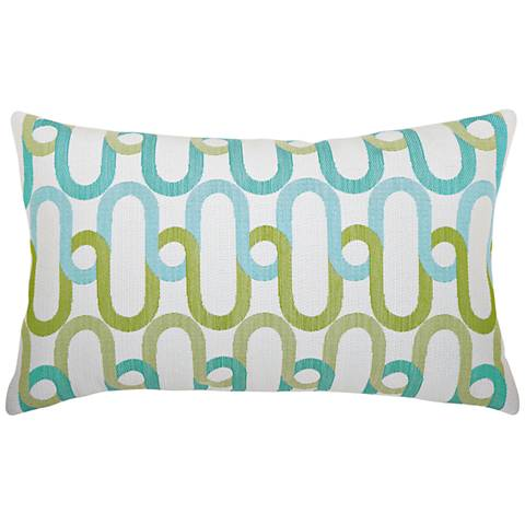 "Poolside Link 20""x12"" Lumbar Indoor-Outdoor Pillow"