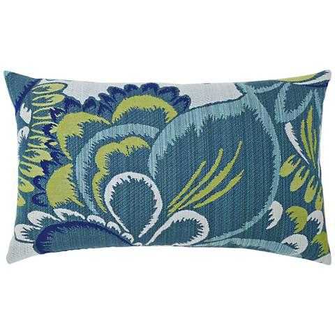"""Floral Wave 20""""x12"""" Lumbar Indoor-Outdoor Pillow"""