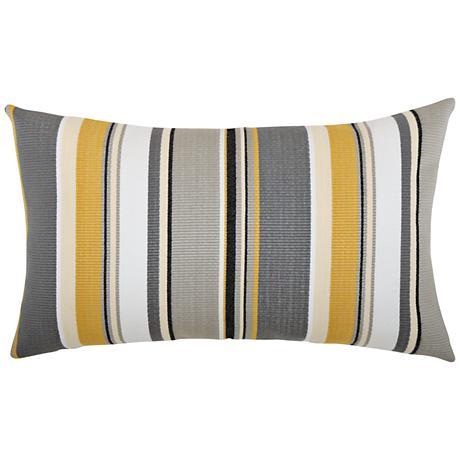 """Shadow Stripe 20""""x12"""" Lumbar Indoor-Outdoor Pillow"""