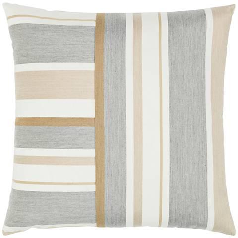 "Elaine Smith Balkan Stripe 20"" Square Indoor-Outdoor Pillow"