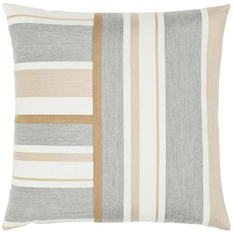 "Elaine Smith Balkan Stripe 20"" Square Indoor-Outdoor Pillow"