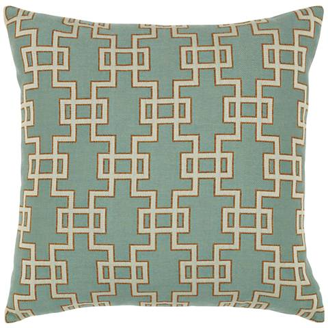 "Elaine Smith Spa Gate 20"" Square Indoor-Outdoor Pillow"