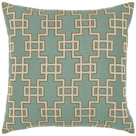"""Elaine Smith Spa Gate 20"""" Square Indoor-Outdoor Pillow"""