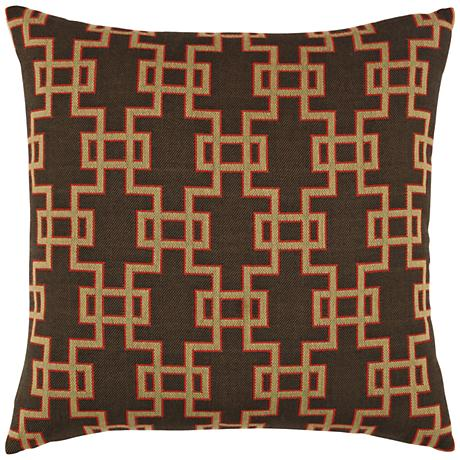 "Elaine Smith Ethnic Gate 20"" Square Indoor-Outdoor Pillow"