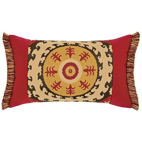 """Elaine Smith Suzani 20""""x12"""" Lumbar Indoor-Outdoor Pillow"""