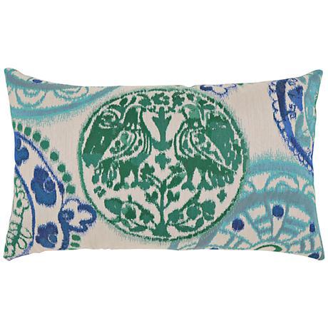 """Emerald Waters 20""""x12"""" Lumbar Indoor-Outdoor Pillow"""