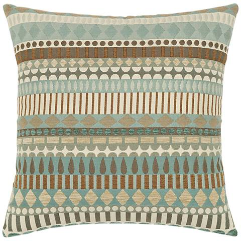 "Elaine Smith Spa Deco 19"" Square Indoor-Outdoor Pillow"