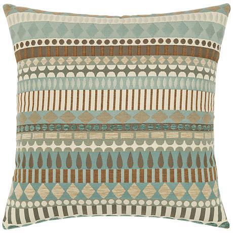 "Elaine Smith Spa Deco 19"" Square Indoor-Outdoor Pillow"