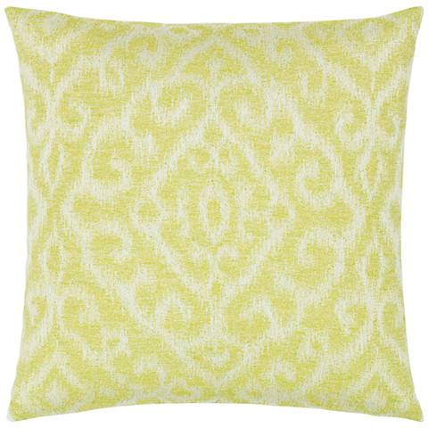 "Elaine Smith Bali Citrine 20"" Square Indoor-Outdoor Pillow"